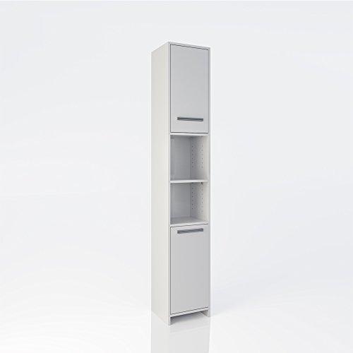 Badschrank kiko 190 x 30 cm wei badezimmerschrank for Badschrank doppelwaschbecken
