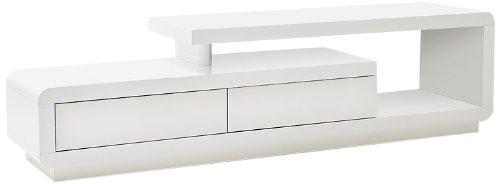 Celia Media TV Lowboard - MDF Hochglanz weiß lackiert, 2 Schubkästen, 1 Fach - Maße in B/H/T: ca. 170x40x45 cm