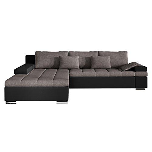 Design Ecksofa Bangkok Smart, L-Form Couch, Moderne Eckcouch mit Schlaffunktion und Bettkasten, Farbauswahl, Ecksofa für Wohnzimmer, Gästezimmer, Wohnlandschaft
