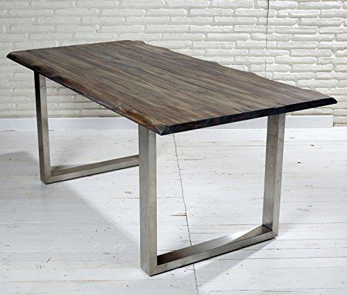 esstisch massiv 180 90 cm akazie stahl echtholz tisch mit besonderem finish 0 m bel24. Black Bedroom Furniture Sets. Home Design Ideas