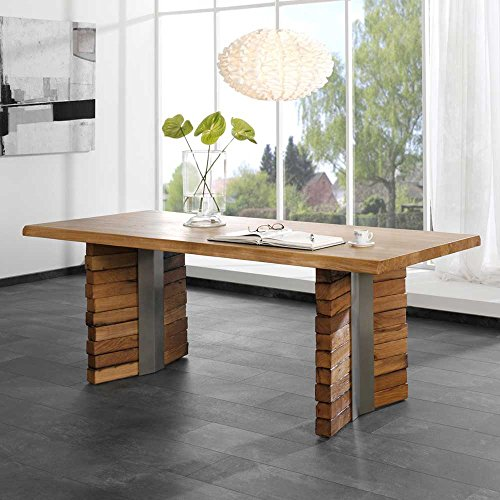 esstisch mit baumkante wildeiche massivholz pharao24. Black Bedroom Furniture Sets. Home Design Ideas