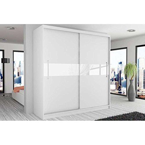 justhome simply ii schwebet renschrank kleiderschrank garderobenschrank 218x133x60 cm gro e. Black Bedroom Furniture Sets. Home Design Ideas