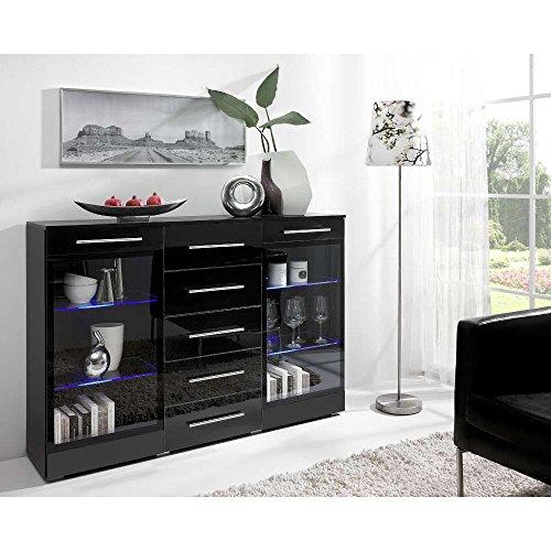justhome verona 2w5s kommode sideboard wohnzimmerschrank. Black Bedroom Furniture Sets. Home Design Ideas
