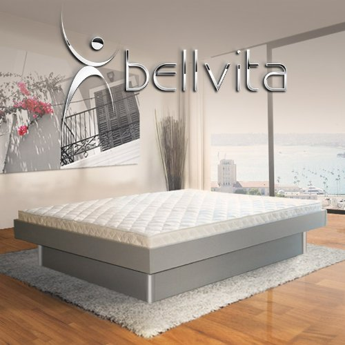 SONDERAKTION bellvita silverline Wasserbett mit Unterbausockel in KOMFORTHÖHE & Bettumrandung inkl. Lieferung & Aufbau durch Fachpersonal, 200 cm x 200 cm