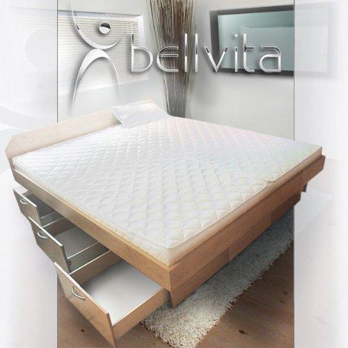 ORIGINAL bellvita Mesamoll II Wasserbett mit Schubladensockel in Komforthöhe, Bettumrandung mit fachgerechtem Aufbau, ALLE Größen frei wählbar, auch 200 cm x 220 cm