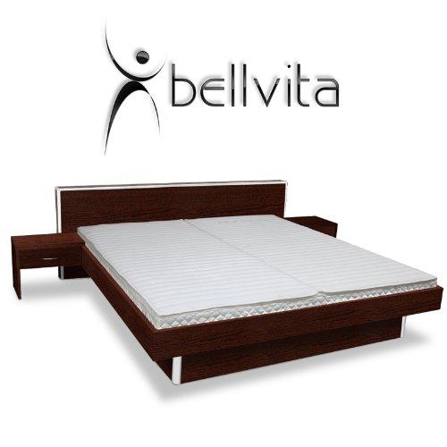 ORIGINAL bellvita Wasserbett inkl. Lieferung und Aufbau durch Fachpersonal inkl. Bettrahmen, Kopfteil und 2 Nachttischen 140 cm x 200 cm