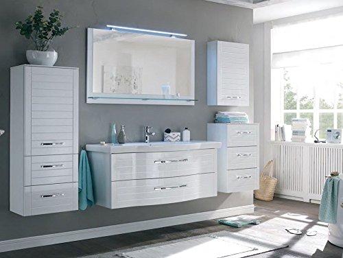 PELIPAL SOLITAIRE 6020 3 tlg. Badmöbel Set / Waschtisch / Unterschrank / Flächenspiegel / Confort N
