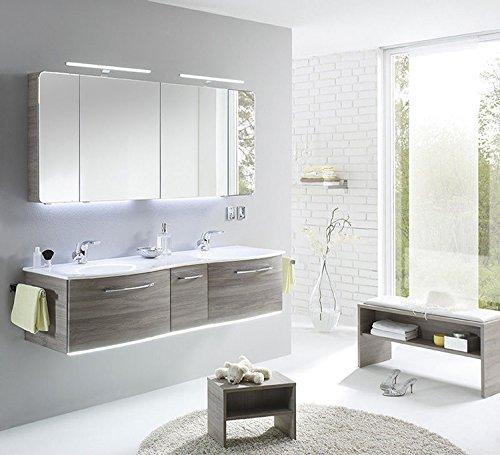 Pelipal Solitaire 7025 3 tlg. Badmöbel Set / Waschtisch / Unterschrank / Spiegelschrank / Comfort E