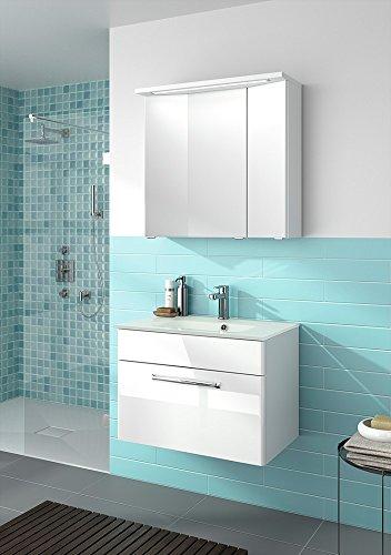 pelipal trentino 740 badmbel set 74 cm glas waschtisch unterschrank spiegelschrank 0 m bel24. Black Bedroom Furniture Sets. Home Design Ideas