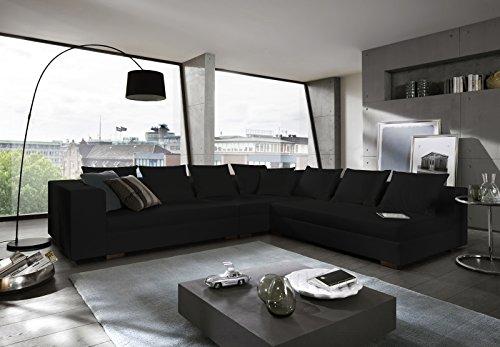 SAM® Design Wohnzimmer Sofa Landschaft Amare in schwarz 325 x 275 cm designed by Ricardo Paolo®