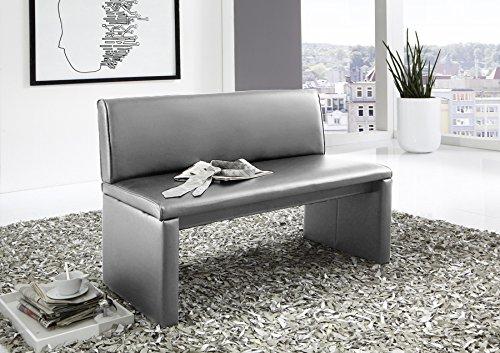 SAM® Esszimmer Sitzbank Family Hilton, in hellgrau, Sitzbank mit Rückenlehne aus Samolux®-Bezug, angenehmer Sitzkomfort, freistehende Bank