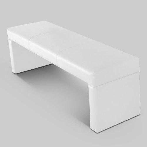 SAM® Esszimmer Sitzbank in weiß Bank 140 cm modernes Design schlicht pflegeleichte Oberfläche angenehmer Sitzkomfort [53258614]