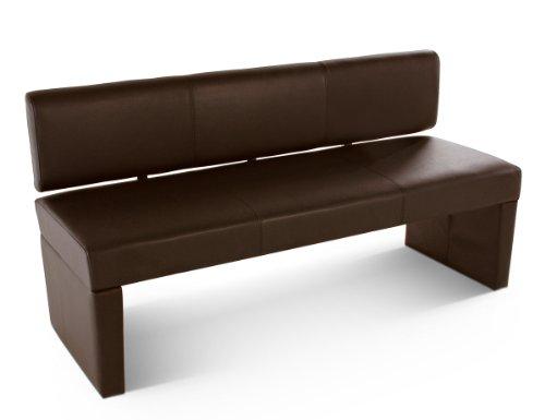 SAM® Esszimmer Sitzbank, 164 cm, in braun, Sitzbank mit Rückenlehne aus Samolux®-Bezug, angenehmer Sitzkomfort, frei im Raum aufstellbare Bank [53258418]