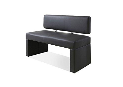SAM® Esszimmer Sitzbank Silas, 100 cm, in grau, Sitzbank mit Rückenlehne aus Samolux®-Bezug, angenehmer Sitzkomfort, frei im Raum aufstellbare Bank