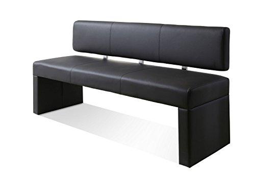 SAM® Esszimmer Sitzbank Silas, 164 cm, in grau, Sitzbank mit Rückenlehne aus Samolux®-Bezug, angenehmer Sitzkomfort, frei im Raum aufstellbare Bank