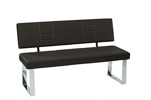 Sitzbank Moultrie Gestell Metall Verchromt 140 x 44 x 88 cm
