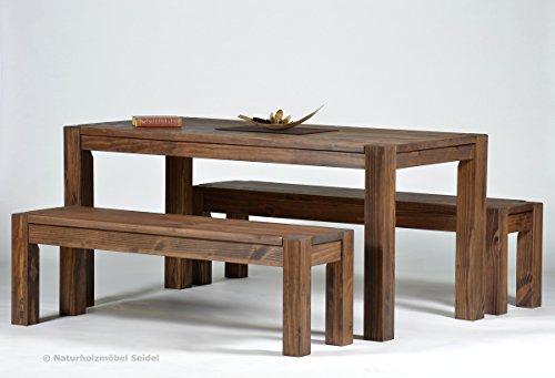 sitzgruppe garnitur mit esstisch rio bonito cognac braun 160x80cm 2 sitzbnke 140x38cm lnge knnen. Black Bedroom Furniture Sets. Home Design Ideas