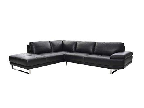 Sofa MARIKA in schwarz Couch Couchgarnitur Wohnlandschaft Ledercouch