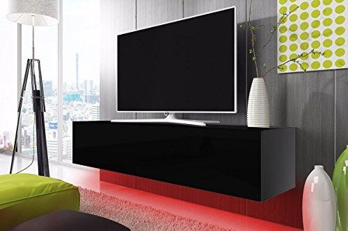 TV Schrank Lowboard Hängeboard SIMPLE mit LED Rot