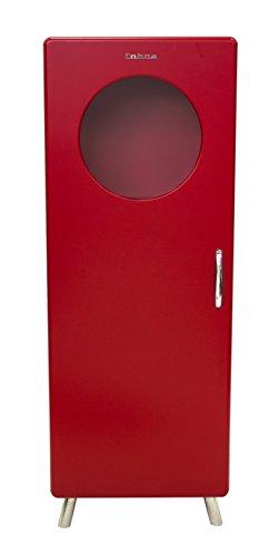Tenzo 4901-028 Cobra Designer Halbvitrine, 150 x 56 x 43 cm, MDF lackiert, rot