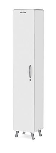 Tenzo 4931-001 Cobra Designer Hochschrank, abschließbar, 185 x 35 x 33 cm, MDF lackiert, weiß