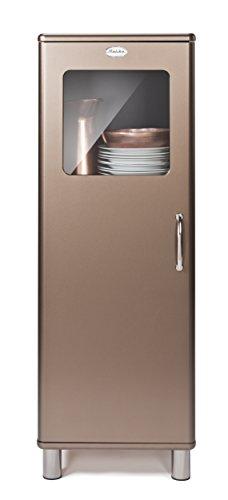 Tenzo 5011-088 Malibu Deluxe, Designer Halbvitrine, 143 x 50 x 41 cm, bronze metallic, MDF lackiert