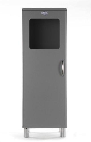 Tenzo 5111-014 Malibu - Designer Halbvitrine 143 x 50 x 41 cm, MDF lackiert, grau