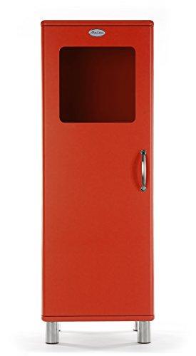 Tenzo 5111-028 Malibu Designer Halbvitrine, MDF lackiert, 143 x 50 x 41 cm, rot
