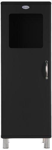 Tenzo 5111-033 Malibu - Designer Halbvitrine 143 x 50 x 41 cm, MDF lackiert, schwarz