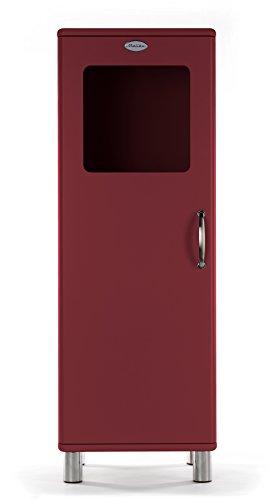 Tenzo 5111-035 Malibu Designer Halbvitrine Holz, marsala, 41 x 50 x 143 cm
