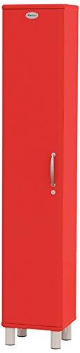 Tenzo 5131-027 Malibu Designer Hochschrank, abschließbar, 185 x 35 x 34 cm, MDF lackiert, rot