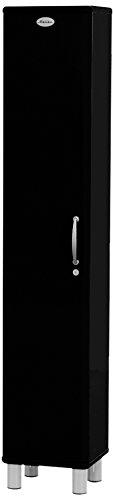 Tenzo 5131-033 Malibu Designer Hochschrank, abschließbar, 185 x 35 x 34 cm, MDF lackiert, schwarz