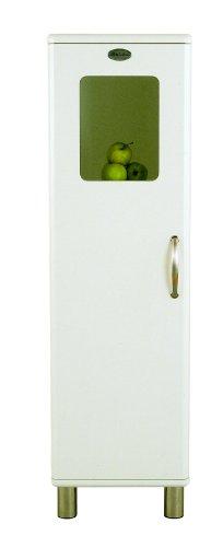 Tenzo 5164-005 Malibu - Designer Halbvitrine 143 x 41 x 40 cm, MDF lackiert, weiß