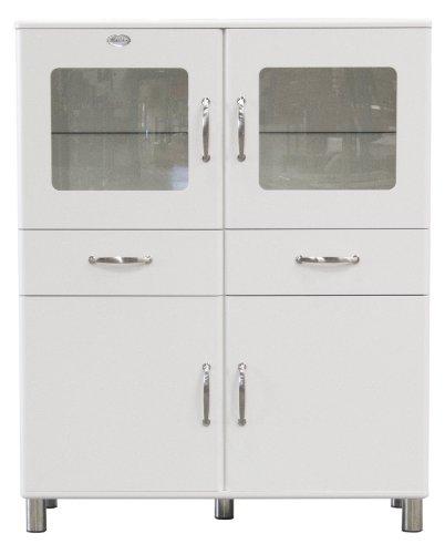 Tenzo 5237-005 Malibu - Designer Doppelvitrine / Schrank 150 x 120 x 44 cm, MDF lackiert, weiß