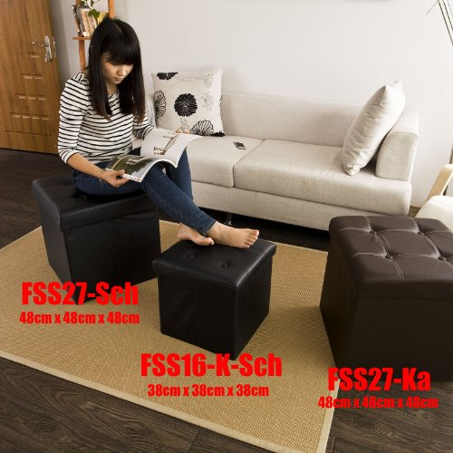 XL 48cm,Sitzkasten,Sitzbank,Sitztruhe,Sitzbox,FSS27