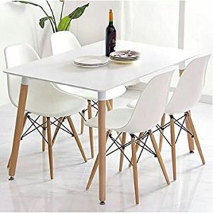 yopih charles ray eames inspiriert eiffel dsw retro design wood style sthle und tisch set fr bro. Black Bedroom Furniture Sets. Home Design Ideas