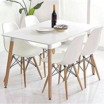 yopih Charles & Ray Eames inspiriert Eiffel DSW Retro Design Wood Style Stühle und Tisch Set für Büro Lounge Küche kitchencharles & Ray Eames inspiriert Eiffel DSW Retro Design Wood Style Stühle und Tisch Set für Büro Lounge Küche