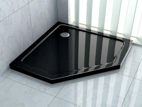 50 mm Duschtasse für PENTAGONO 90 x 90 (schwarz)