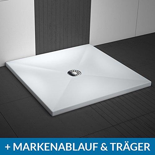 AQUABAD® Duschwanne Comfort Lux Flat Quadrat