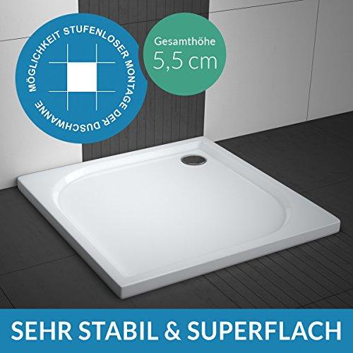 AQUABAD® Duschwanne Comfort Praktica Quadrat