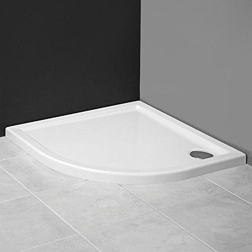 AQUABAD® Duschwanne/Duschtasse Superflach Viertelkreis/Asymmetrisch