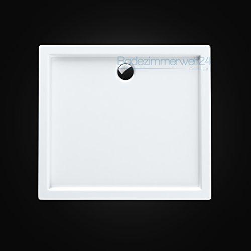 AQUABAD® Duschwanne/Duschtasse/Duschbecken Rechteck 80x100x14cm