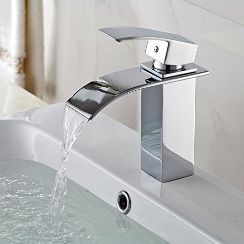 BONADE Wasserfall Waschtischarmaturen Armatur Bad Wasserhahn für Badezimmer Waschbecken
