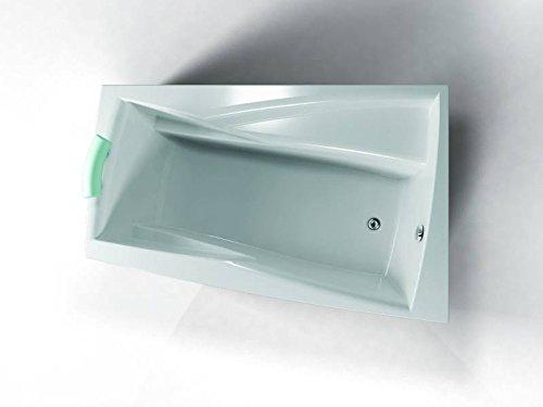 Badewanne 160x105 Ara Rechts - Acryl Trapezwanne Raumsparwanne