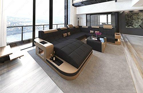 Designercouch Luxus Wohnlandschaft Wave XXL