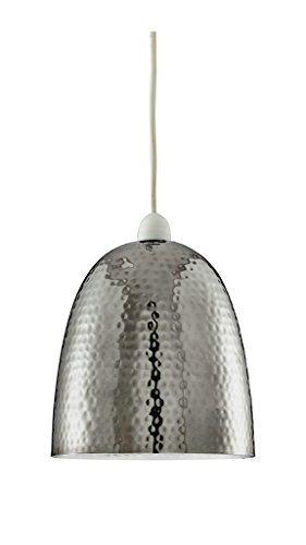 Deckenleuchte / Hängeleuchte, Metall Nickel poliert, gehämmert, moderner Stil