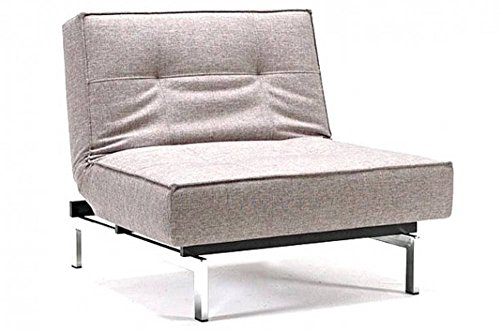 Design Sessel Splitback grau Convertible Bett 115 * 90 cm