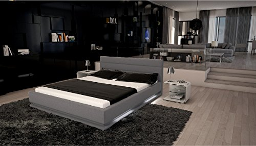 bett doppelbett futonbett modell ripani grau lederimitat 180x200 cm m bel24. Black Bedroom Furniture Sets. Home Design Ideas