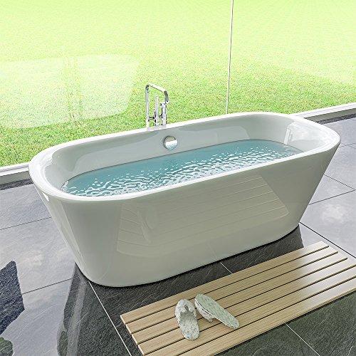 Exclusive Freistehende Badewanne 1730x780x580 aus Sanitäracryl mit Ab.- und Überlauf