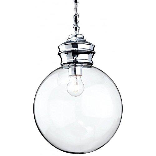 Firstlight Hängelampe 3410CH, 60W, Chrom mit klarem Glas